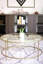 Glass And Gold Coffee Table Gold Coffee Tables Living Room Living Room Coffee Table Styling