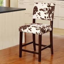 Faux Cowhide Chair Linon Corey 24 In Counter Stool Udder Madness Brown Hayneedle