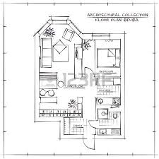 architectural floor plan architectural floor plan two bedrooms apartment royalty