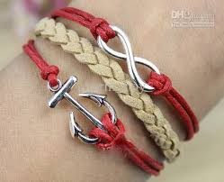 bracelet with anchor charm images 20 off silvery infinity bracelet anchor charm bracelet red rope jpg