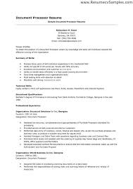 Sample Loan Processor Resume Best Solutions Of Sample Cover Letter For Word Processor In