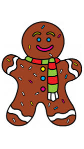 draw gingerbread man christmas easy step step