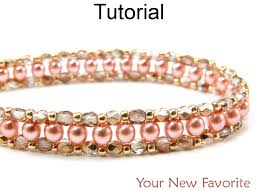 simple beads bracelet images Beading tutorial pattern bracelet right angle weave raw simple