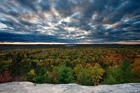 autumn fall foliage booth rock outlook algonquin park beauty
