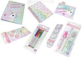 stationary set unicorn and rainbow 7 stationery set folder notebook