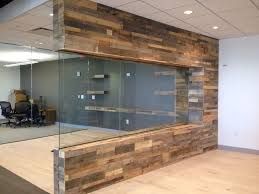 pallet wood walls with glass love this pallet wood projects