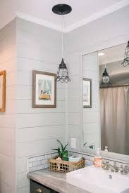 how to paint existing bathroom cabinets before after shiplap bathroom house with home