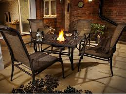 Patio Furniture Sets With Fire Pit by Add More Comfort And Relax Outdoor Space With Fire Pit Table Set