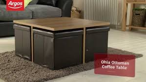 coffee table ottoman coffee tables table with storage blue