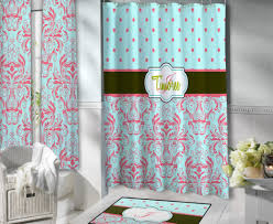 aqua and white chevron shower curtain u2022 shower curtain