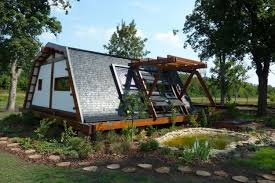 backyard tiny house exterior tiny self sustainable home other design traditional