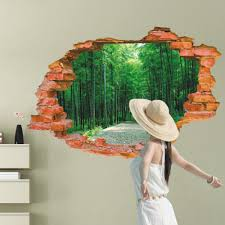 avenue path style creative 3d wall sticker removable wallpaper