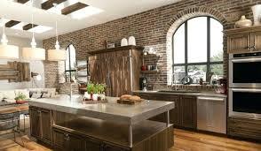 cuisine brique credence cuisine imitation cuisine en brique mur idace