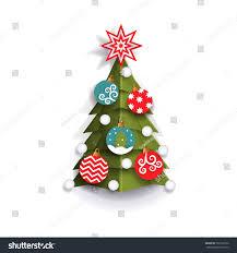 christmas tree decoration element xmas greeting stock vector