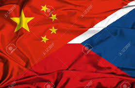 Czech Flag Waving Flag Of Czech Republic And China Stock Photo Picture And