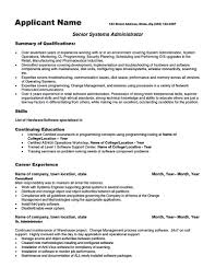 Software Resume System Administrator Resume Includes A Snapshot Of The Skills Both