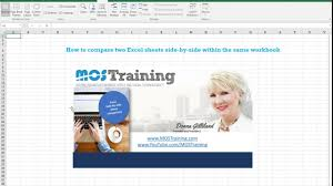 how to compare two excel spreadsheets within the same workbook
