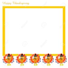 thanksgiving pilgrim turkeys scrapbook frame on white illustration