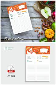 recipe page template color recipe templates recipe planner