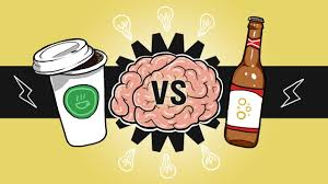 cartoon beer can which can improve brain creativity coffee vs beer stethnews