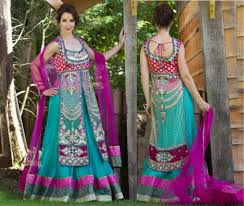 Wedding Dresses For Girls New Indian Fashion Long Shirt Anarkali Dresses For Girls 2014 2015