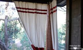 Outdoor Canvas Curtains No Sew Drop Cloth Projects Country Design Style