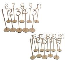 table numbers wedding aliexpress buy 20pcs 1 20 wooden table numbers with holder