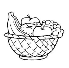 basket of fruit basket pictures to color