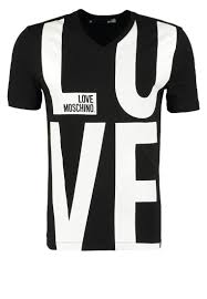 moschino on sale t shirts moschino print t shirt black