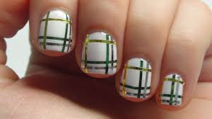 st patricks day plaid tutorial using striping tape that nail