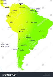 Bogota Colombia Map South America by Political Map South America Stock Vector 25761415 Shutterstock