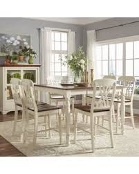 7 piece counter height dining room sets amazing deal on weston home two tone 7 piece counter height dining