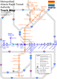 Map Of Midtown Atlanta by World Nycsubway Org Marta Track Map