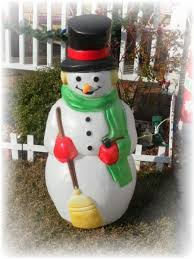 Light Up Snowman Outdoor Decorating For A Vintage Style Christmas Lisa U0027s Creative Designs