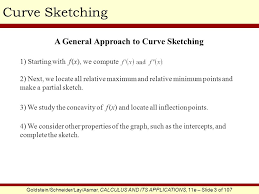 2 3 the first and second derivative tests and curve sketching