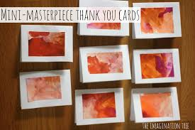 mini masterpiece thank you cards the imagination tree