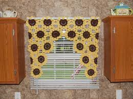 Sunflower Yellow Curtains by Sunflower Window Valance Sunflower Curtain Crochet Flower