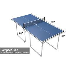 table tennis dimensions inches joola midsize compact table tennis table great for small spaces and
