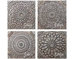 Moroccan Pattern Art Moroccan Wall by Moroccan Ceramic Art Set Of 4 Tiles Wall Tiles With
