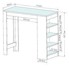 hauteur table haute cuisine quelle hauteur de plan de travail choisir cuisine plus choisir
