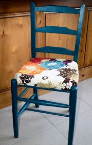 Outdoor High Back Chair Cushions Clearance Ladder Back Chair With Floral Seat Cushion Home Decor