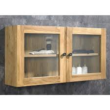 Oak Wall Mounted Display Cabinet Pre Assembled Solid Oak Glass Wall Cabinet With A Twist