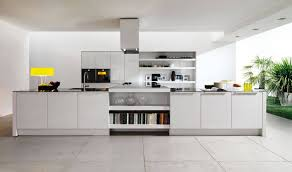 Stainless Cabinets Kitchen Modern Kitchen With Stainless Steel Range Hood And White Sleek