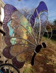 stained glass butterfly l hummingbird and flower stained glass panel suncatcher stained