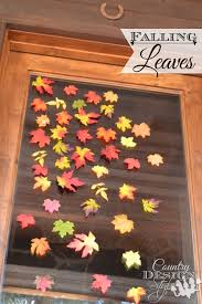 falling leaves decor country design style