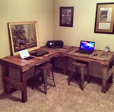 Diy Pallet Wood Distressed Table Computer Desk 101 Pallets by Great Diy Pallet Farm Table Desk Pallets Desks And Shapes