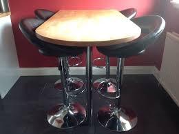 Breakfast Bar Table Ikea Ikea Gerton Breakfast Bar Table And 4 Faux Leather Bar Stools