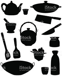 asian kitchen silhouettes stock vector art 166079174 istock