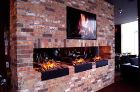 electric fireplace contemporary open hearth built in