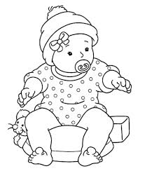 coloring pages of babies coloring kids coloring pages throughout